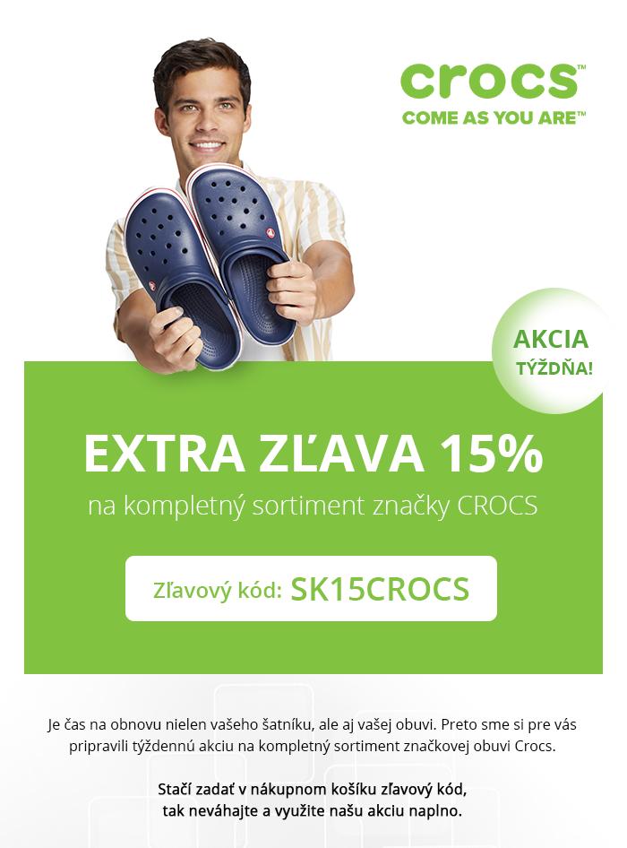 81a821e5d5cc Extra zľava 15% na značkovú obuv CROCS! Doprajte svojim nohám to najlepšie.