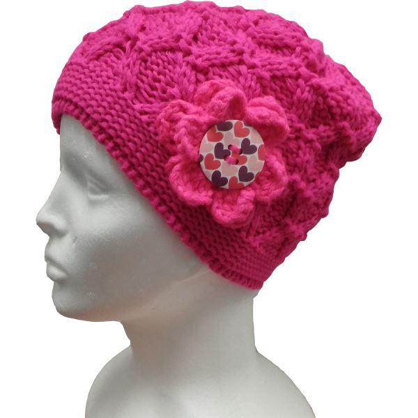 Detská zimná čiapka CAPU D18925 ružová