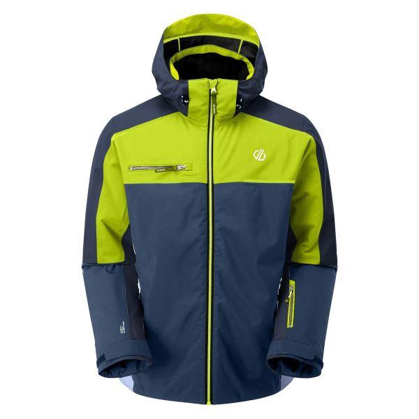 Pánska zimná bunda Dare2b INTERMIT II modrá / limetková