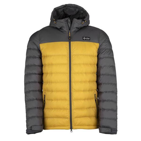 Pánska ľahká páperová bunda Kilpi SVALBARD-M žltá