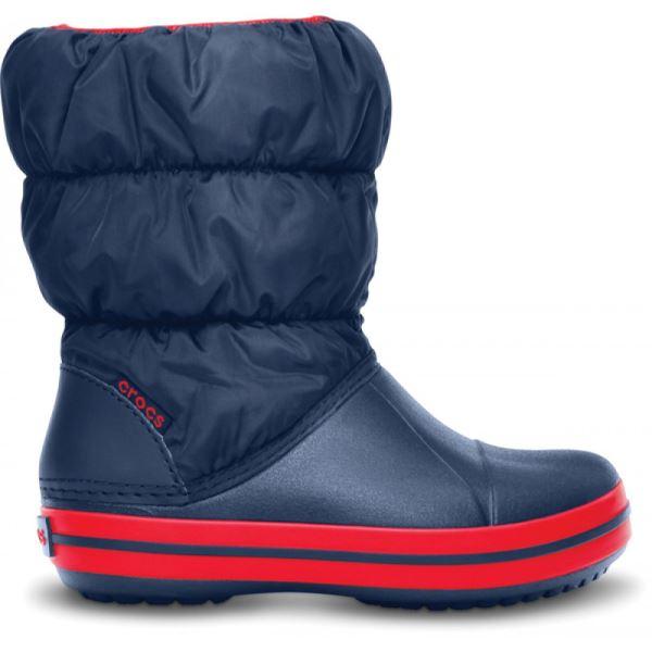 Detské zimné topánky Crocs WINTER PUFF BOOT tmavo modrá   červená ... 6823e1a8de8