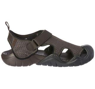 Pánske topánky Crocs Swiftwater Sandal hnedá