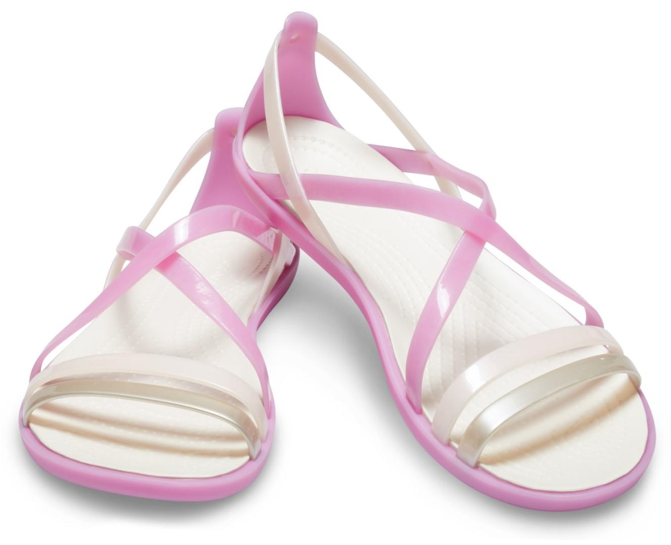 f923c3cf4f3b Dámske sandále Crocs Isabella Strappy Sandal ružová   biela