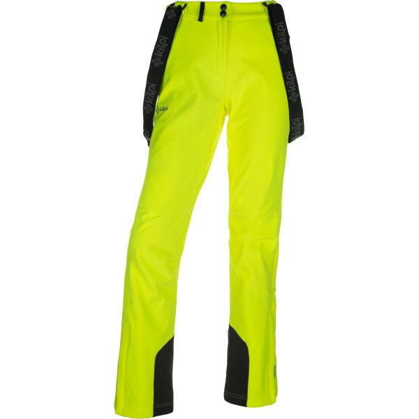 Dámske lyžiarske nohavice Kilpi RHEA-W žltá (nadmerná veľkosť)
