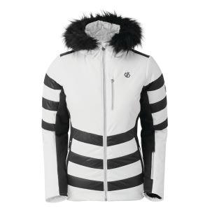 Dámska zimná bunda Dare2b SNOWGLOW biela / čierna