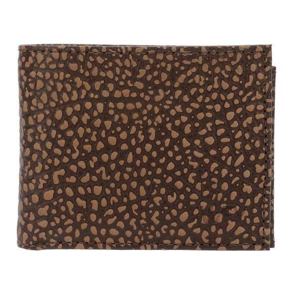 Pánska kožená peňaženka WFY 444 hnedá vzor