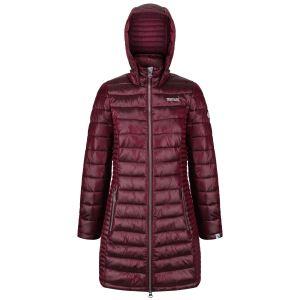 Dámsky zimný prešívaný kabát Regatta Beetroot červená