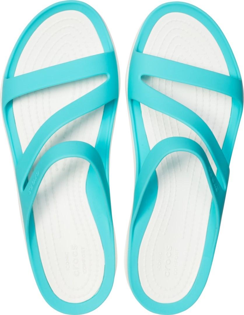 Dámske šľapky Crocs SWIFTWATER Sandal W modrá   biela  c50882f6515