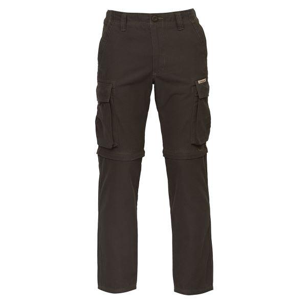 Pánske nohavice BUSHMAN NOHAVICE LINCOLN-ZIP OFF tmavo hnedá