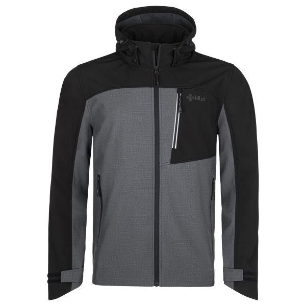 Pánská softshellová bunda Kilpi RAVIO-M tmavo šedá