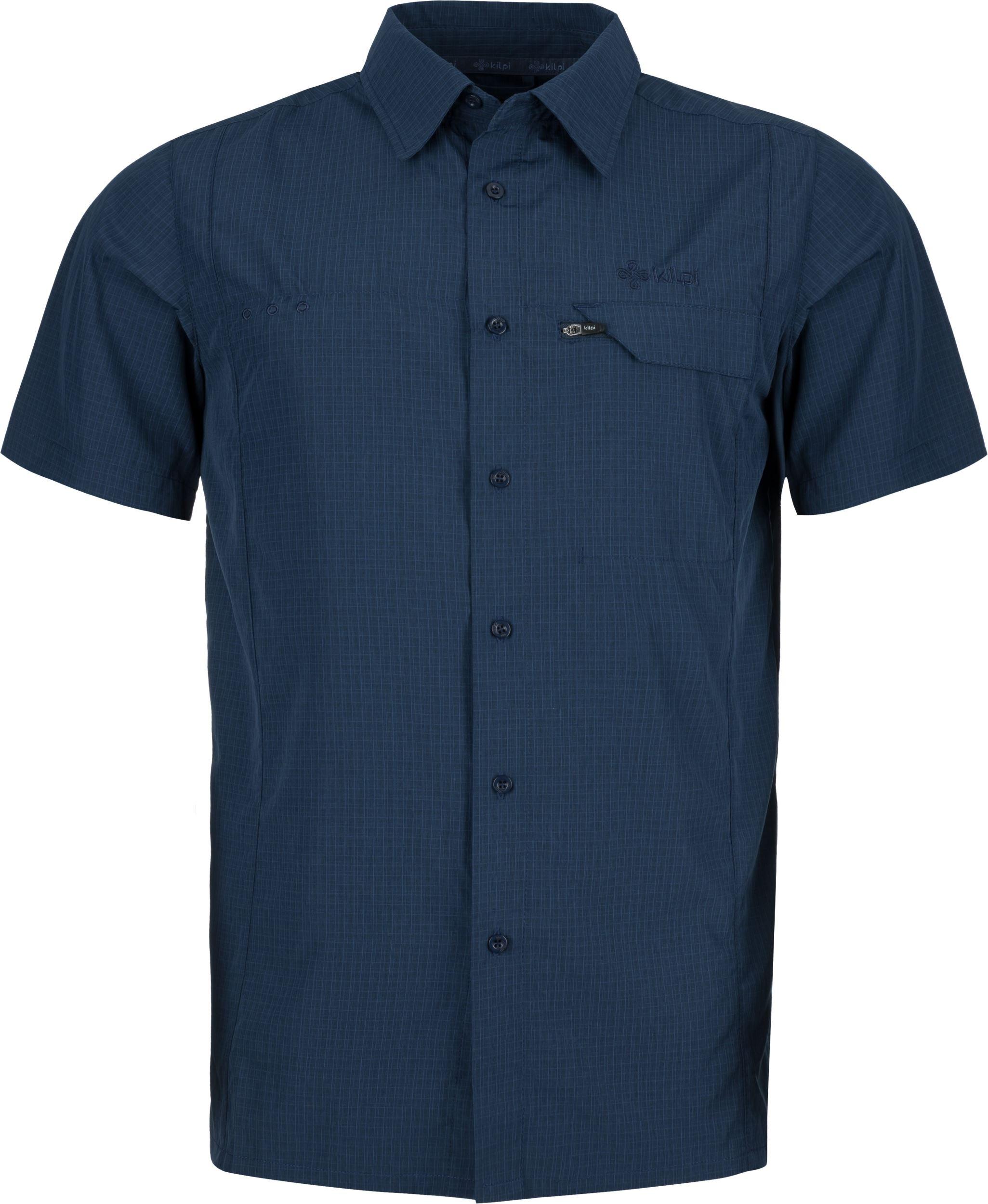 17af4b8a21 Pánska košeľa Kilpi BOMBAY-M tmavo modrá (nadmerná veľkosť) 4XL