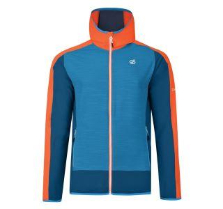 Pánska softshellová bunda Dare2b APPERTAIN II modrá / oranžová