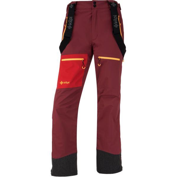 Dámske trojvrstvové nohavice Kilpi KEKU-W tmavo červená