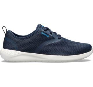 Pánske topánky Crocs LiteRide Mesh Lace M tmavo modrá / biela