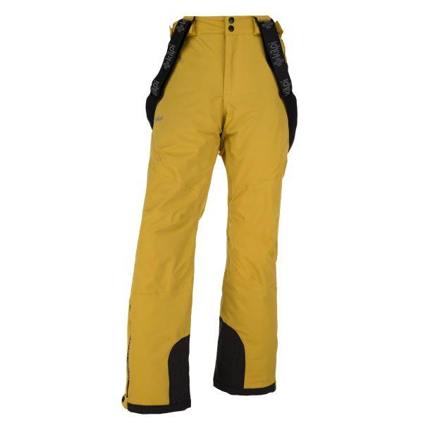 Pánske zimné lyžiarské nohavice KILPI METHONE-M žltá