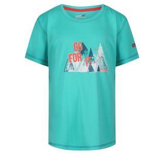 Detské funčkné tričko Regatta ALVARADO IV svetle tyrkysová