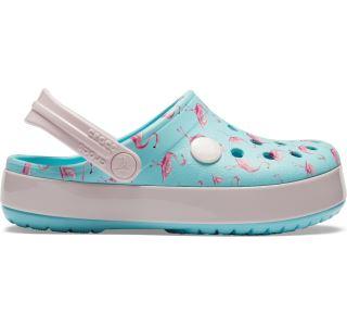 Detské topánky Crocs CROCBAND MultiGraphic Clog ľadovo modrá