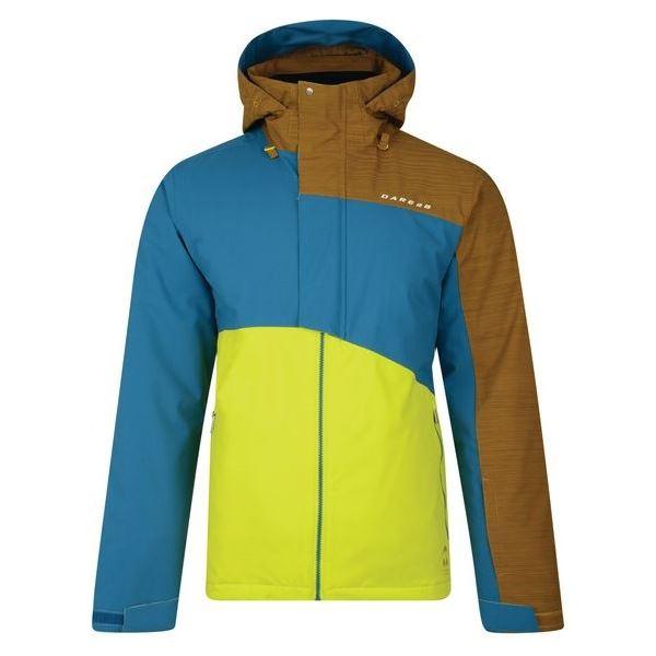 Pánska zimná lyžiarska bunda Dare2b HURL DOWN žltá / modrá