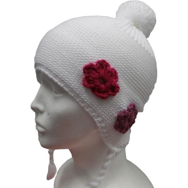 Detská zimná čiapka CAPU 4465 biela