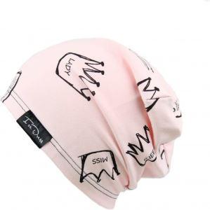 Detská bavlnená čiapka IceDress QUEEN II svetlo ružová