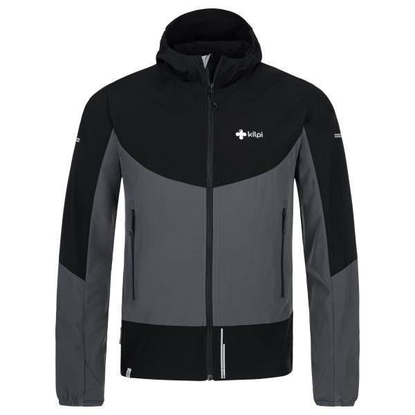 Pánska ľahká softshellová bunda Kilpi BALANS-M tmavo šedá
