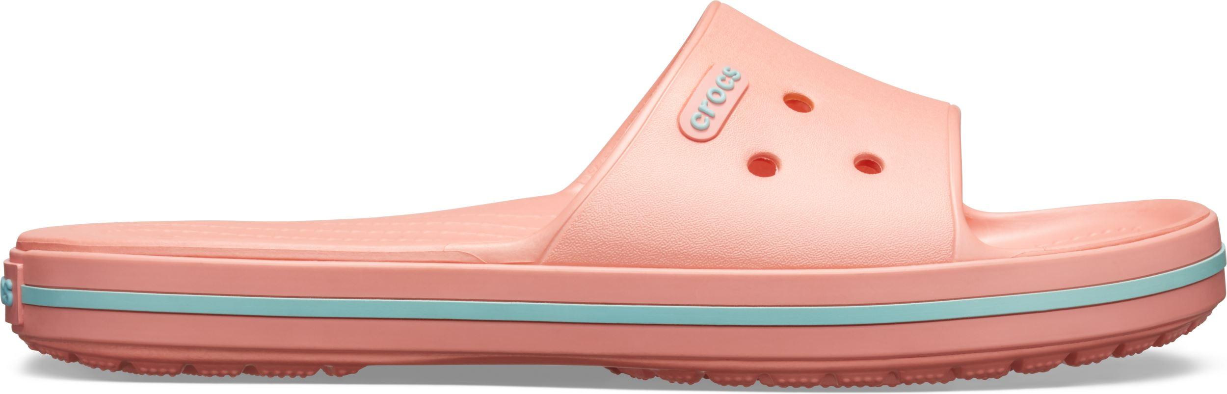 5b366eb8dbd04 Dámske šľapky Crocs Crocband III Slide melónovo ružová / modrá | hs ...