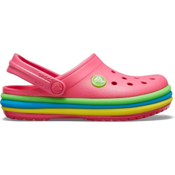 Detské topánky Crocs CB Rainbow Band Clog ružová