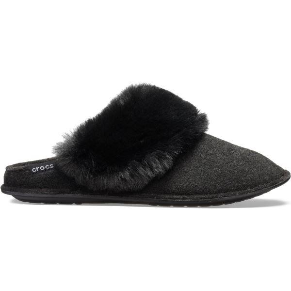 Unisex papuče Crocs CLASSIC LUXE Slipper čierna