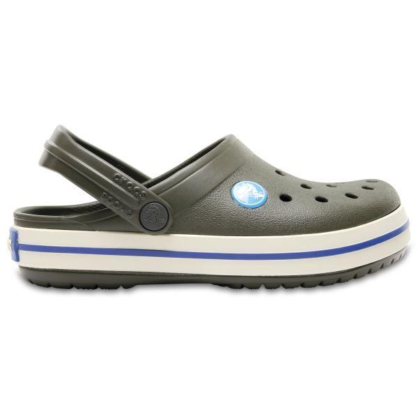 Detské topánky Crocs CROCBAND Clog K tmavo zelená
