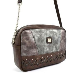 Dámska kabelka Gabol Gloss hnedá / sivá