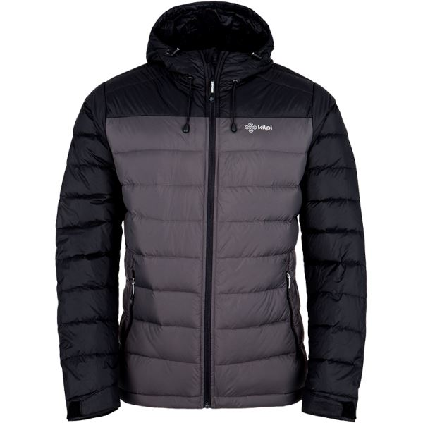Pánska ľahká páperová bunda Kilpi SVALBARD-M tmavo sivá