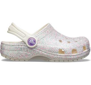 Dámske topánky Crocs Classic Glitter Clog biela