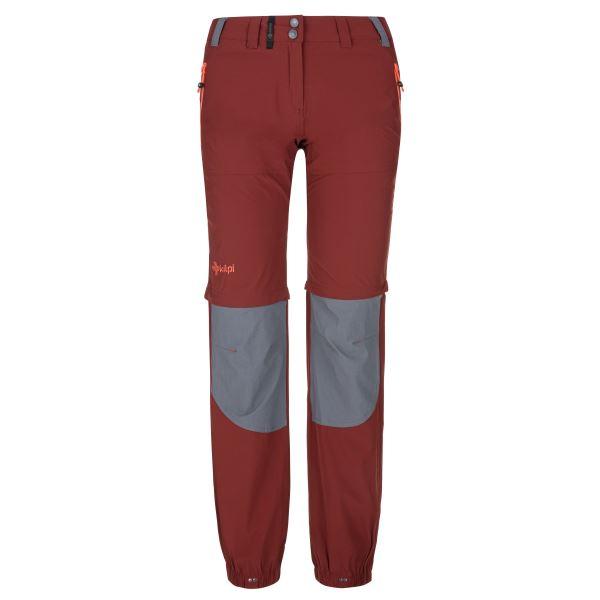 Dámske technické outdoorové nohavice Kilpi HOSIO-W tmavo červená