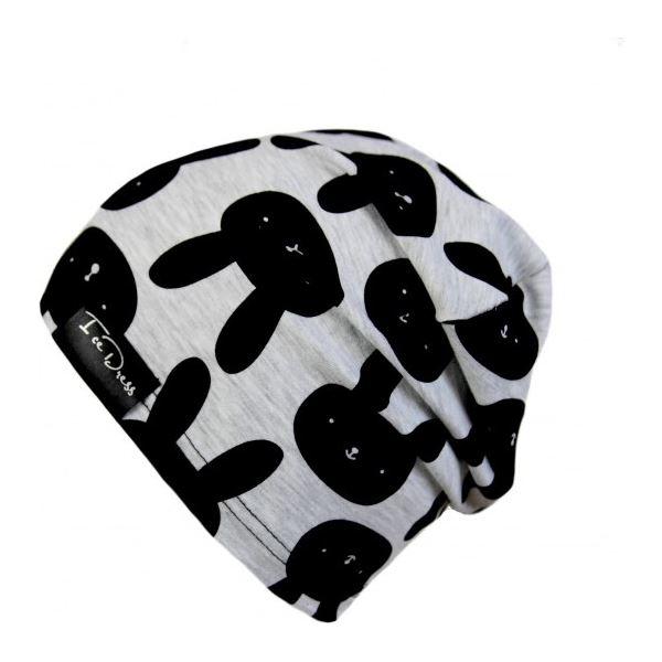 Detská bavlnená čiapka IceDress ZAJDA III sivá/čierna