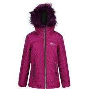 Detská zimná prešívaná bunda Regatta WESTHILL Beetroot fialová