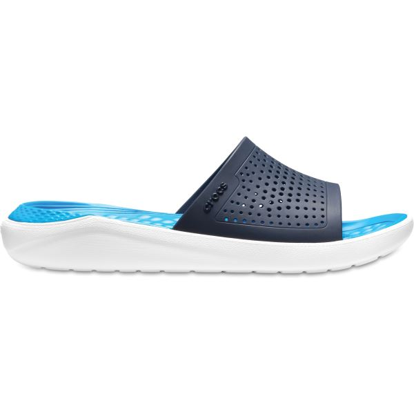 Unisex papuče Crocs LiteRide Slide tmavo modrá / biela