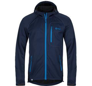 Pánska softshellová bunda Kilpi ENYS-M modrá (nadmerná veľkosť)