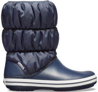 Dámske zimné topánky Crocs WINTER PUFF Boot tmavo modrá / biela