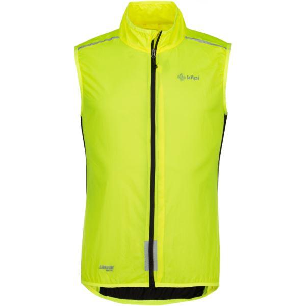 Pánska ultraľahká vesta Kilpi FLOW-M žltá
