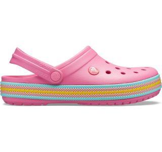 Dámske topánky Crocs Crocband Šport Cord Clog ružová