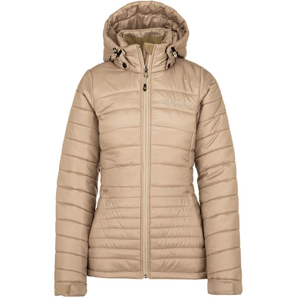 Dámska zimná prešívaná bunda Kilpi GIRONA-W béžová
