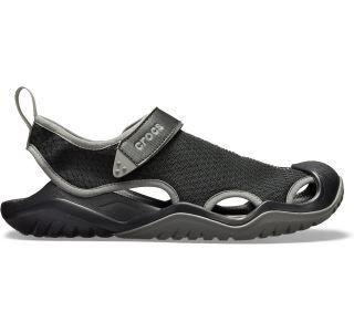 Pánske topánky Crocs Swiftwater Mesh Deck Sandal čierna