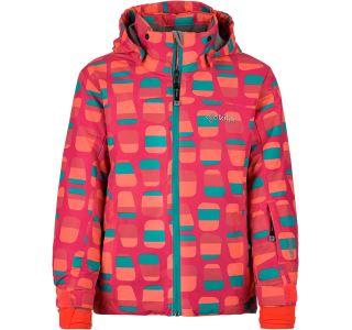 Detská zimná lyžiarska bunda Kilpi Genovese-JG tmavo ružová