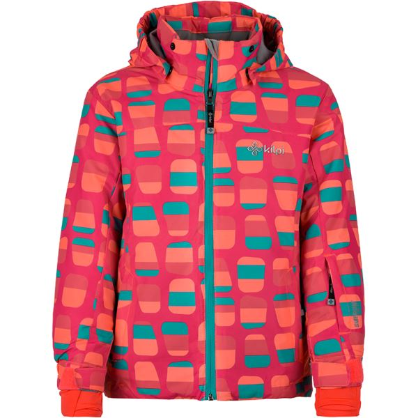 Detská zimná lyžiarska bunda Kilpi GENOVESA-JG tmavo ružová