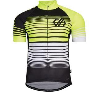 Pánsky cyklistický dres Dare2b AEP CLARIFY čierna / žltá