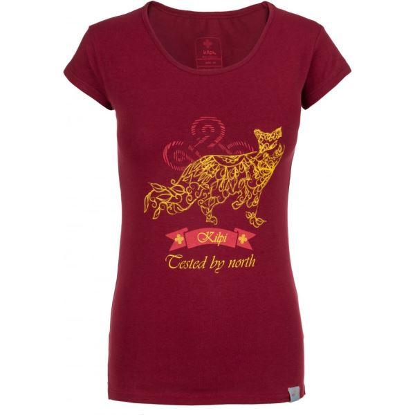 bd44752fd3f6 Dámske tričko Kilpi FOXY-W tmavo červená (kolekcia 2019) 34