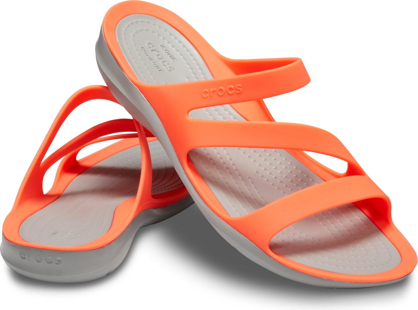9ab07f5964 Dámske šľapky Crocs SWIFTWATER Sandal W korálovo oranžová   šedá 37 ...