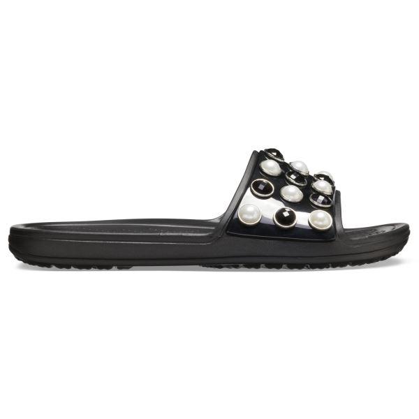 Dámske šľapky Crocs Sloan Timeless Pearl Slide čierna