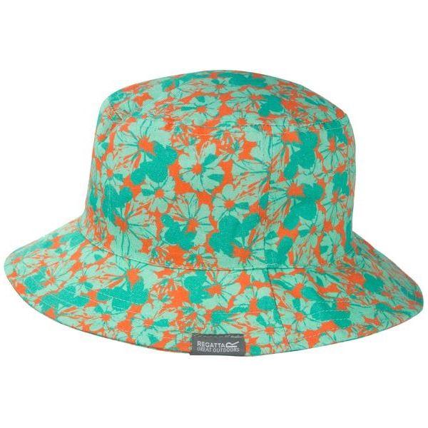 Detské klobúk Regatta CRUZE Hat II tyrkysová/ oranžová