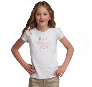 Dievčenské tričko Regatta BUGLE biela